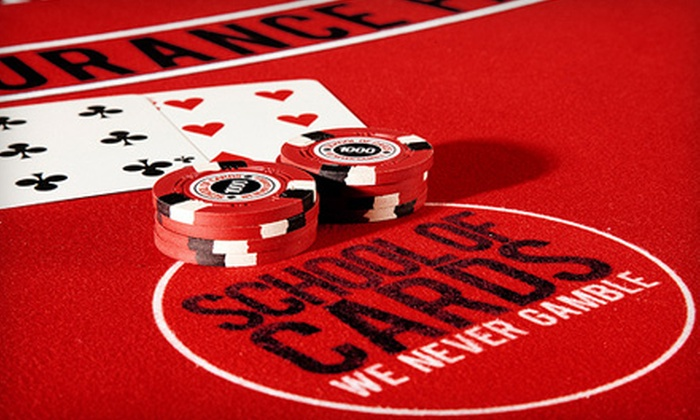 School of Cards - Chelsea: $39 for Intro to Poker or Strategic Blackjack Class at School of Cards ($150 Value)