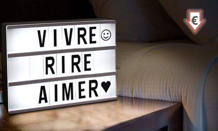 bo te lumineuse personnalisable avec 85 lettres et signes. Black Bedroom Furniture Sets. Home Design Ideas