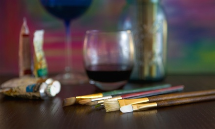 Canvas and Wine Class with Appetizers for One, Two, or Four at The Art of Wine (Up to 63% Off)