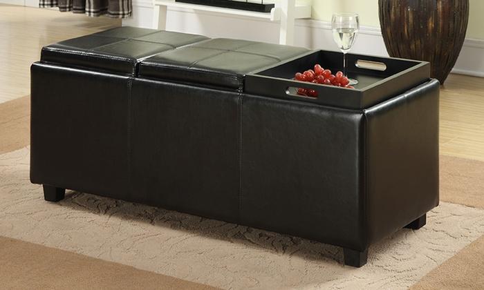 Terrific Storage Ottoman Serving Trays Groupon Goods Evergreenethics Interior Chair Design Evergreenethicsorg