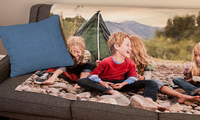 Easy Canvas Prints: Personal Fleece, Velveteen, or Woven Blanket from Easy Canvas Prints (Up to 75% Off)