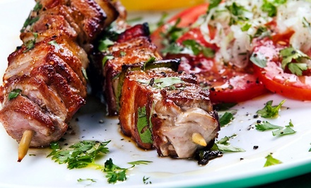 One Kebab with a Side and Drinks at Suzani Restaurant (44% Off)
