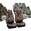 Hunting Camouflage Car Seat Covers; Side Airbag Compatible