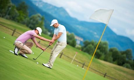 1 o 3 clases privadas de golf nivel perfeccionamiento y 5 o 15 green fees desde 69 €en Benalmádena Golf