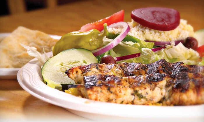 Little Greek - St. Petersburg: $15 for a Three-Course Mediterranean Meal for Two at Little Greek (Up to $30.95 Value)