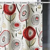 Seraphine Luxa Fabric Shower Curtain with Contemporary Floral Print
