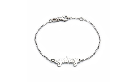 $39 for a Personalized Sterling Silver Script Name Bracelet from Luce Mia ($113 Value)