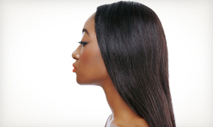 Styles by Stacey - Herndon: Conditioning Treatment and Style with Relaxer or Women's Haircut and Shampoo at Styles by Stacey (Up to 60% Off)