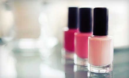One or Three Organic Mani-Pedis with One Take-Home Bottle of Polish at Accolades Salon Spa (Up to 65% Off)
