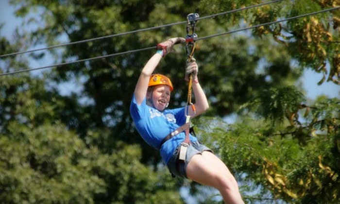 Adventures Ziplines of Pigeon Forge - 1: Zipline Adventure for Two or Four with Photos at Adventure Ziplines of Pigeon Forge in Sevierville (Up to 65% Off)