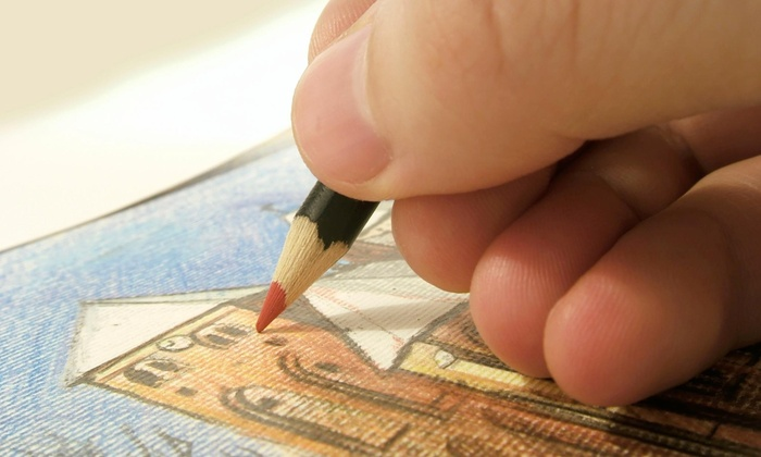 Orange Time Gallery - Mid-Wilshire: One-Day Art and Wine Drawing Course at Orange Time Gallery (50% Off)