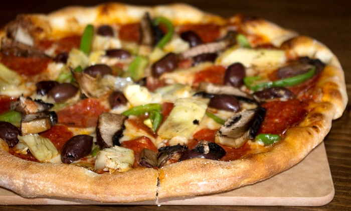 """Pole Position - Midland: $25 for Two 9"""" Pizzas and Two Drinks at Pole Position ($40 Value)"""