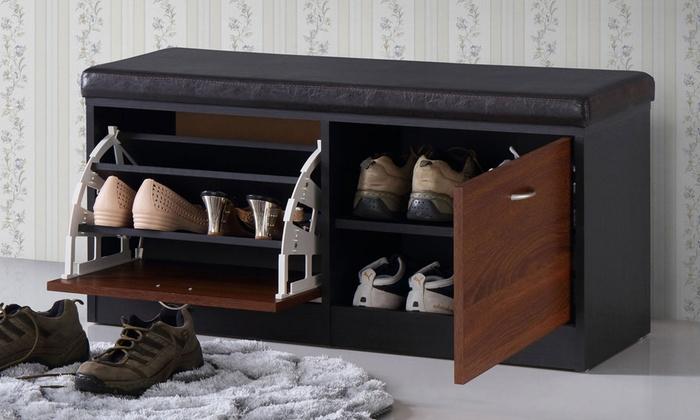 Etonnant Clevedon Contemporary Shoe Storage Bench ...