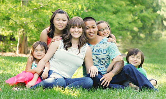 KSP Photo - Lincoln: $59 for a 60-Minute Family Photo-Shoot Package from KSP Photo ($246 Value)