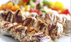 Minoas Greek Taverna: CC$29.99 for a Prix Fixe Greek Dinner for Two People at Minoas Greek Taverna (CC$61.75 Total Value)