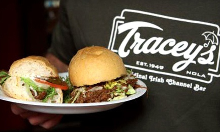 Tracey's Original Irish Channel Bar - Irish Channel: Pub Fare for Two or Four at Tracey's Original Irish Channel Bar (52% Off)