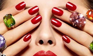 Pure Nail Bar: Gel Manicure with Optional Gel or Pure Premium Pedicure at Pure Nail Bar (Up to 41% Off)