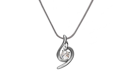 Timeless Love Elegant Invisible Pendant with Swarovski Elements