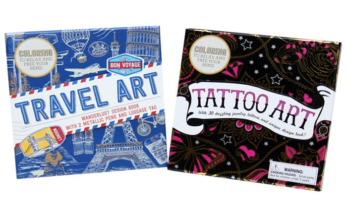 Up To 33% Off on Travel and Tattoo Coloring Boxes | Groupon Goods