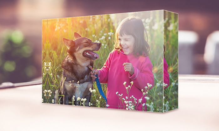 """CanvasOnSale: One 4""""x4"""", 6""""x4"""", or 8""""x6"""" Acrylic Photo Block from CanvasOnSale (Up to 81% Off)"""