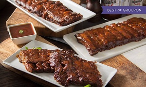 Bubba's Q: BBQ Meal with Ribs, Chicken, and Brisket for Two or Four at Bubba's Q (Up to 38% Off)