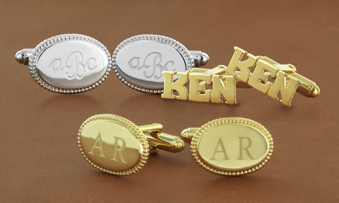 Monogram Online: Monogram Online Personalized Cuff Links. Multiple Styles Available from $29—$39.