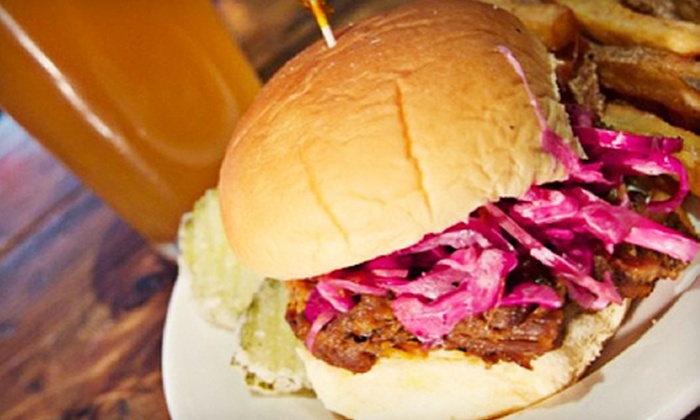 Bench Sports Bar - Bay Ridge & Fort Hamilton: Pub Meal with Appetizers, Sliders, and Beer for Two or Four at Bench Sports Bar (Up to 51% Off)