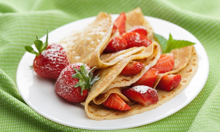 Flip Crepes: Chicago French Market - West Loop: One Free Beverage with Purchase of any 2 Crepes, Pitas, or Bowls at Flip Crepes: Chicago French Market