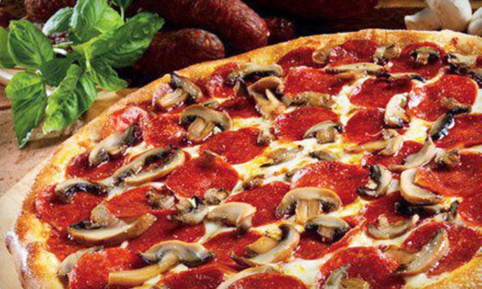 Marco's Pizza - Broken Arrow: $10 for a Large Pizza, CheezyBread, and Fountain Drinks for Two at Marco's Pizza ($21.11 Value)