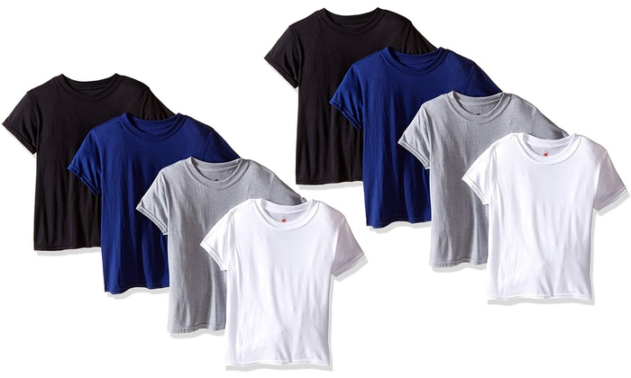 ebd19f81 Up To 27% Off on Hanes Boy's T-Shirt (8-Pack) | Groupon Goods