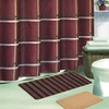 15 Piece Striped Bath Set with 2 Bath Mats