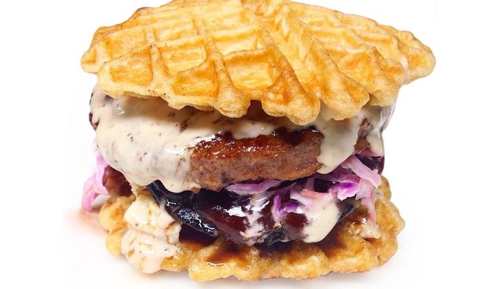 WAFL Truck - Multiple Locations: Waffle-Centric Food Truck Fare and Drinks at WAFL Truck (40% Off). Two Options Available.