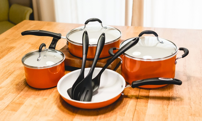 Cuisinart Ceramic Cookware Set Groupon Goods