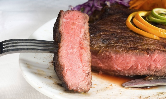 Maderas Steak & Ribs - Los Alamitos: Rib or Tri-Tip Dinner for Two or Four with Appetizers, Bananas Foster, and Wine at Maderas Steak & Ribs (34% Off)