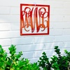 Up to 55% Off Square Vine-Style Steel Monogram Signs