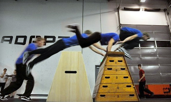 Revolution Parkour - Raleigh West: $29 for Four Beginner Classes for One or One Beginner Class for Four at Revolution Parkour ($60 Value)