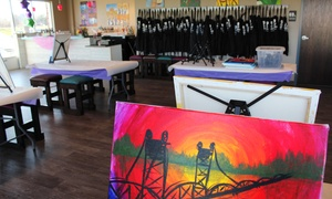 Artful Indulgence: Paint, Sip, Nosh Event at Artful Indulgence (Up to 50% Off). Five Options Available.