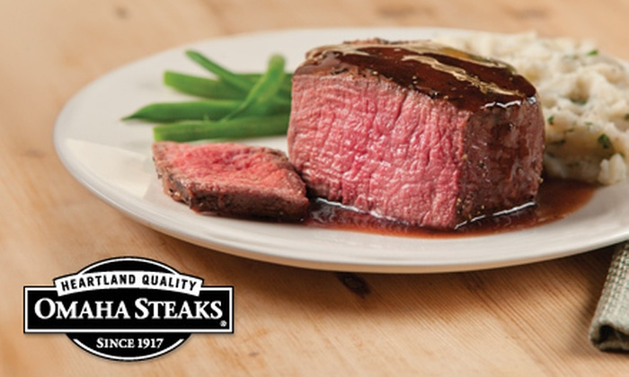 Omaha Steaks Inc. **NAT**: Gourmet-Meat Grilling Package wlith Shipping from Omaha Steaks (Up to 65% Off). Three Options Available.