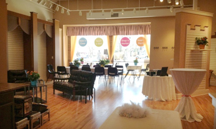 Mixin Mingle - Woodstock: Four-Hour Private Event Space Rental with Tables and Chairs from Mixin Mingle (Up to 51% Off)