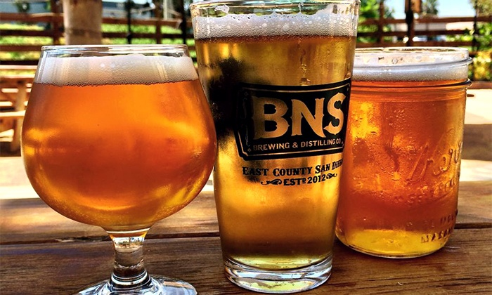 BNS Brewing & Distilling - Santee: $15 for Two Beers and Two Souvenir Pint Glasses from BNS Brewing & Distilling Co. ($24 Value)