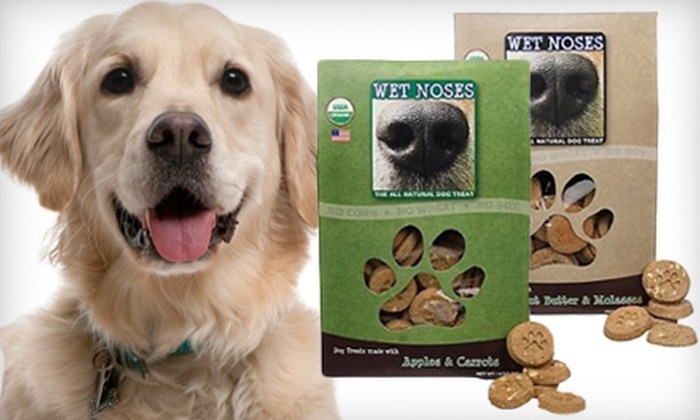 Wet Noses Organic Dog Treats: $24 for Four 14-Ounce Packs of Wet Noses Organic Dog Treats ($31.80 Value)