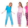 Women's Long Sleeve Jersey Pajama Set