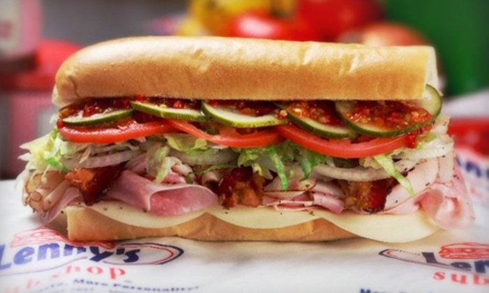 Lenny's Sub Shop - The Woodlands: $5 for $10 Worth of Sandwiches at Lenny's Sub Shop