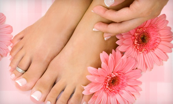 Dominican Spa & Salon - Coral Way: Classic or Spa Mani-Pedi at Dominican Spa & Salon (Up to 52% Off)