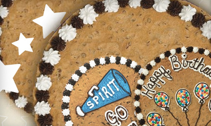 "Great American Cookies - Atlantic Station: $12.25 for a 12"" Round Custom Cookie Cake from Great American Cookies ($22 Value)"