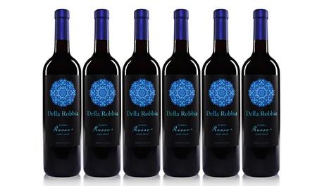 Della Robbia Rosso Semi-Sweet Red Wine (6-Pack)