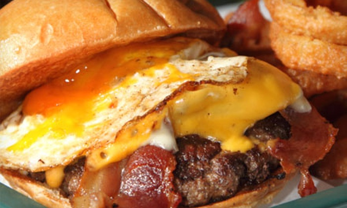 Brooks' Gourmet Burgers and Dogs - Old Naples: $13 for Burgers and Beers for Two at Brooks' Gourmet Burgers and Dogs (Up to $26.98 Value)