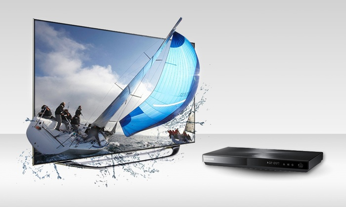 """Samsung TV and Blu-ray Player: Samsung 55"""" or 60"""" 1080p 240Hz Slim Smart-Control LED 3D TV and Blu-ray Player (Up to 48% Off). Free Shipping."""