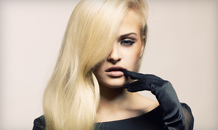 M.GO Fashion Salon - Wicker Park: Haircut and Moroccanoil Conditioning Treatment with Optional Partial Highlights at M.GO Fashion Salon (Up to 68% Off)