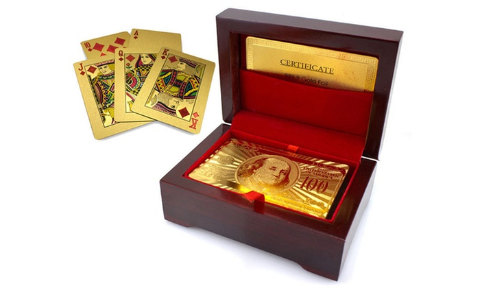 24k Gold Plated Playing Cards Groupon